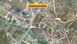 Locatie sediu central Eurolevicom Anvelopeweb.ro - vedere din satelit